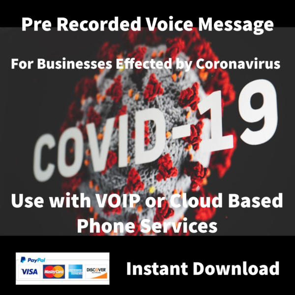 Coronavirus Pre Recorded Phone Message