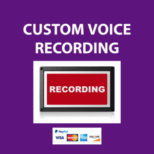 CUSTOM VOICE RECORDING